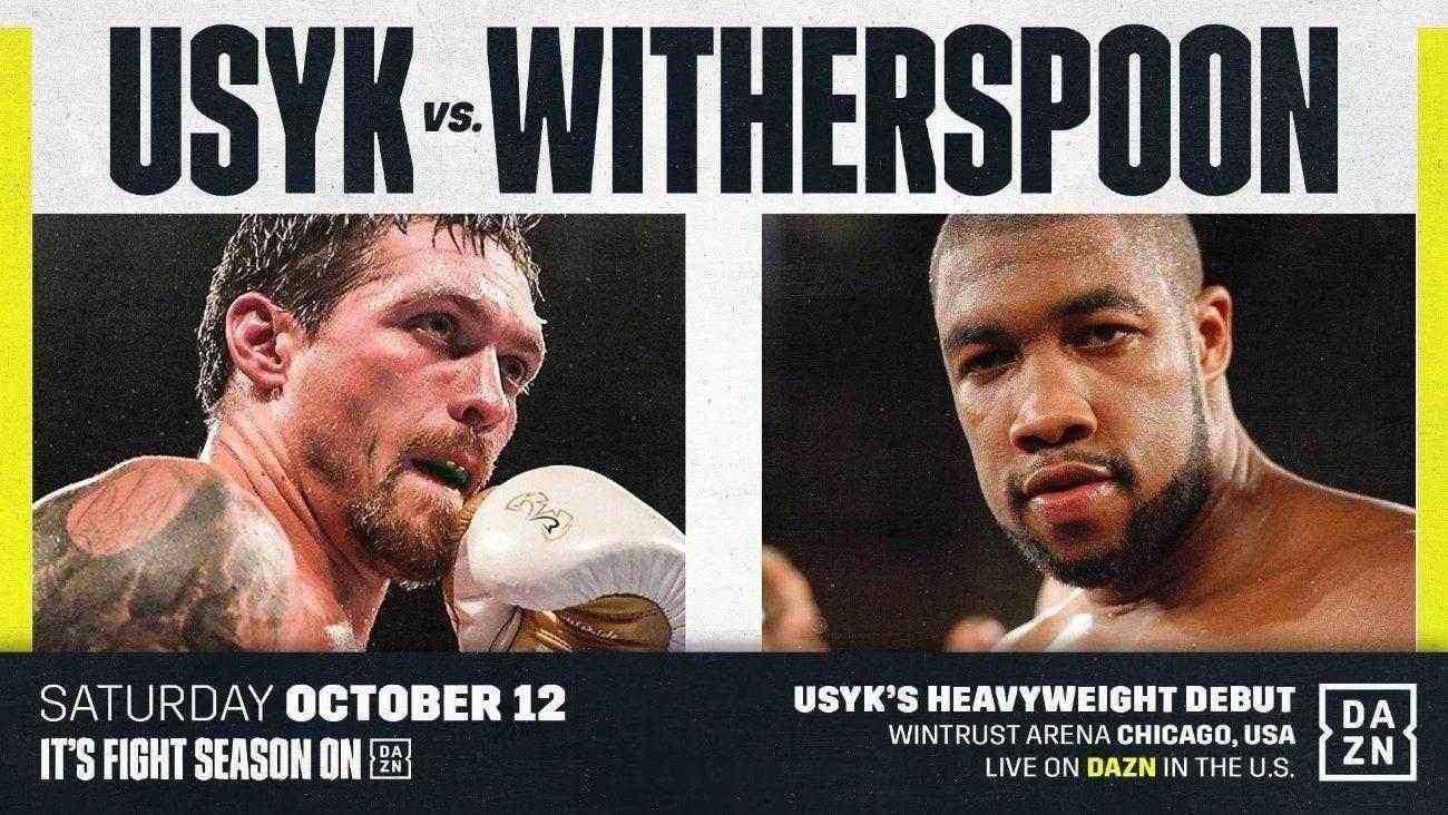 Oleksandr Usyk vs Chazz Witherspoon, este Sábado en VIVO y en Directo por DAZN