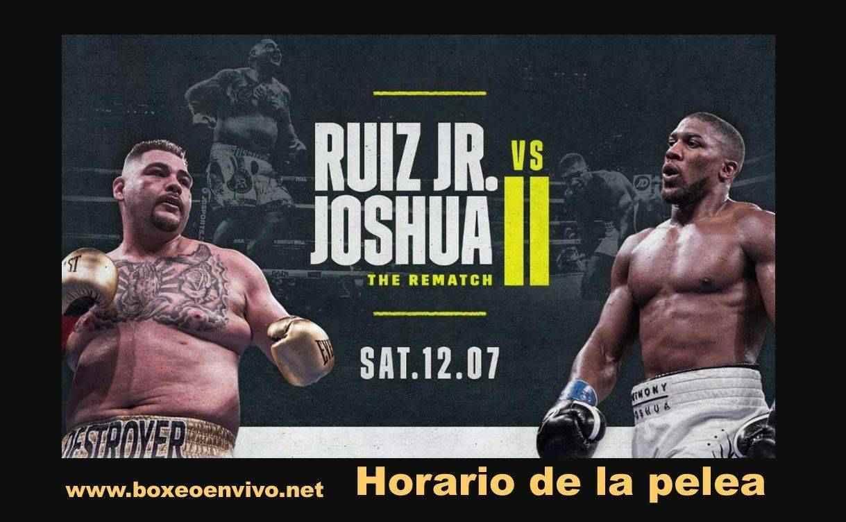 Horario ⌚ de Andy Ruiz Jr vs Anthony Joshua