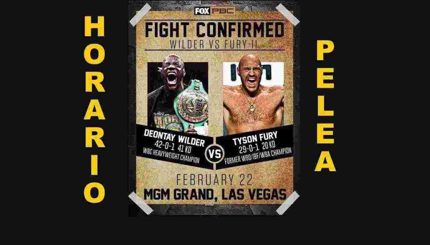 Horario de la Pelea Wilder vs Fury 2