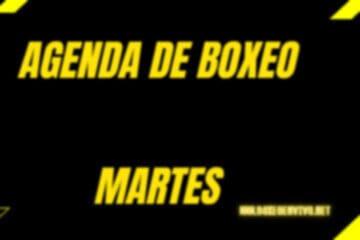 agenda de boxeo martes