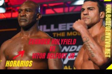 Horario Evander Holyfield vs Vitor Belfort