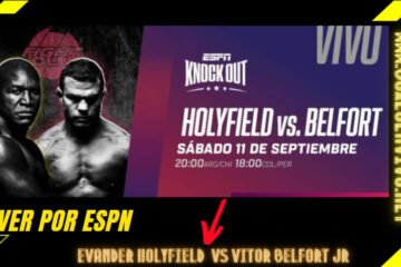 Ver Evander Holyfield vs Vitor Belfort en Vivo por ESPN Knockout