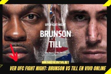 Ver UFC Fight Night en Vivo Online: Pelea Brunson vs Till