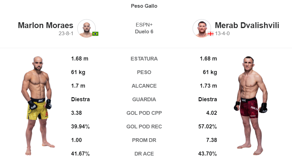 Marlon Moraes vs Merab Dvalishvili